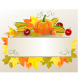 Thanksgiving celebration banner vector image vector image