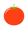 tomato isolated single simple cartoon flat style vector image vector image