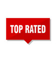 top rated red tag vector image vector image