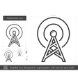 Transmitter line icon vector image vector image