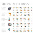 vintage icons set for business and technology vector image vector image