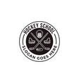 vintage seal badge hockey sport logo vector image vector image