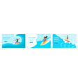 web set man and woman surfeing vector image
