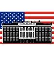 White House and the US flag-1 vector image vector image