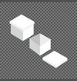 white square box templates set vector image vector image