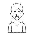 young woman profile cartoon vector image