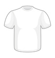 White T-shirt for your design Pure empty isolated vector image