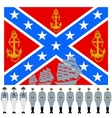 Flag and the linear part of the Confederation Navy vector image