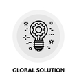 Global Solution Line Icon vector image