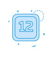 12 date calender icon design vector image