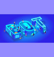 3d isometric word bot creatice script vector image vector image