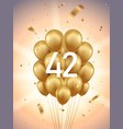 42nd year anniversary background vector image