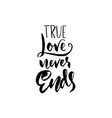 a true love story never ends modern dry brush vector image