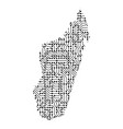 abstract schematic map of madagascar from the vector image vector image