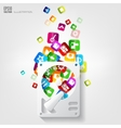 Application buttonSocial mediaCloud computing vector image vector image