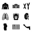 atomy icons set simple style vector image vector image