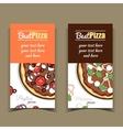 Banners Pugliese Marinara Pizza vector image vector image