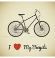 bicycle ant text vector image vector image