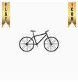 Bicycle flat icon vector image vector image