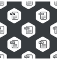 Black hexagon PDF file pattern vector image vector image