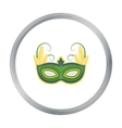 Brazilian carnival mask icon in cartoon style vector image vector image