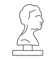bust ancient writer icon outline style vector image