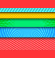 comic colorful horizontal banners vector image