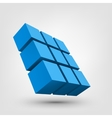 Composition of 3d cubes vector image vector image