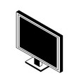 computer screen isometric symbol in black and vector image vector image