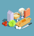 cooking isometric elements set vector image