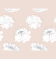delicate floral garden seamless pattern vector image vector image