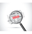 development word background magnifying glass vector image