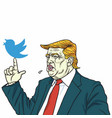donald trump and social media communication vector image