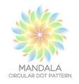 dotted colored mandala circular dot pattern vector image vector image