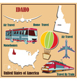Flat map of Idaho vector image vector image