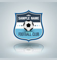 football badge vector image
