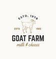goat dairy farm abstract sign symbol or vector image