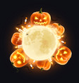 halloween realistic composition vector image