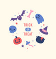 halloween special offer cute hand drawn objects vector image