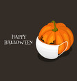 happy corona halloween 2020 pumpkin with face vector image vector image