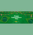 happy independence day sale offer background vector image vector image