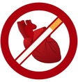 Heart and cigarettes vector image