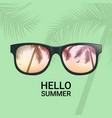 hello summer fun background concept vector image