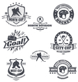 Hockey emblems vector image