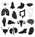 Human Organ Icons Set vector image