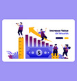 increase value wealth and personal financial vector image vector image