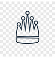 king concept linear icon isolated on transparent vector image