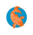 Koi Carp Fish Jumping vector image vector image