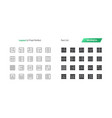 layout ui pixel perfect well-crafted thin vector image vector image