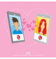 long distance relationship - background design vector image vector image